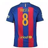 2016-17 Barcelona Sponsored Home Shirt (Iniesta 8)