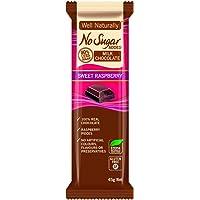 WELL NATURALLY No Added Sugar Sweet Raspberry Milk Chocolate, Brown, 45 g