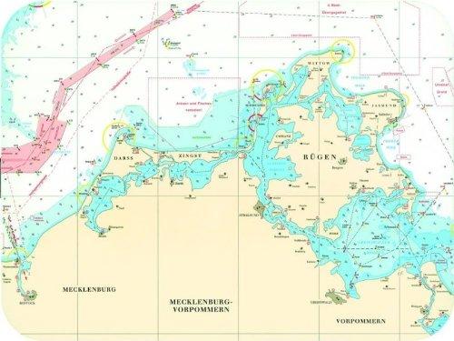 seekarten ostsee kostenlos download Seekarte als Tischset   Rügen   südlich Seeland   Fünen   Kieler  seekarten ostsee kostenlos download