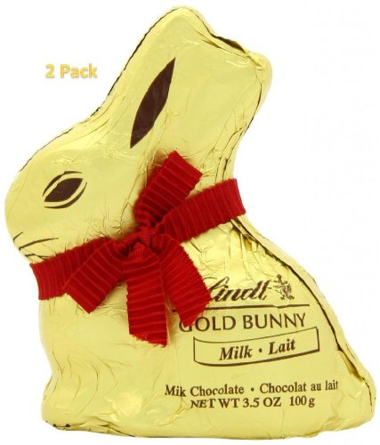 Lindt GOLD BUNNY Milk Chocolate, 3.5-Ounce - 2 Pack