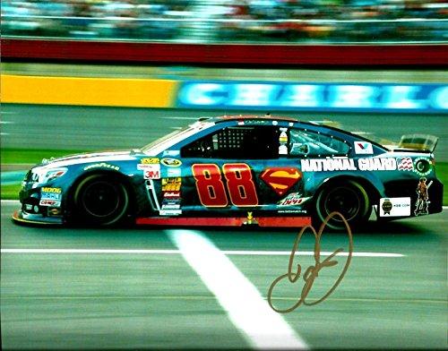 Signed Earnhardt Jr. Photo - 2014 SUPERMAN DC COMICS NATIONAL GUARD 8x10#1 - Autographed NASCAR Photos ()
