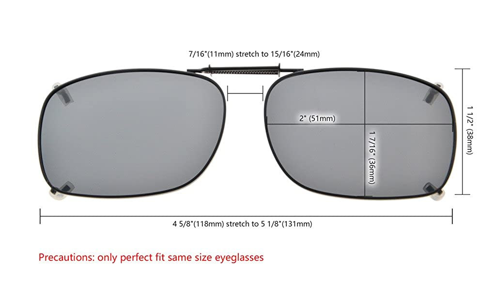 8df7bd992b69 Amazon.com  Eyekepper Grey Brown G15 Lens 3-pack Clip-on Polarized  Sunglasses 53MMX38MM Grey Lens  Clothing
