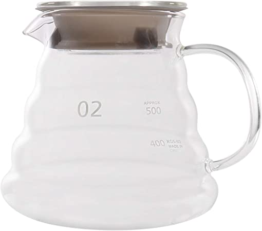 Jarra de cristal transparente para café, tetera, tetera 650 ml transparente: Amazon.es: Hogar