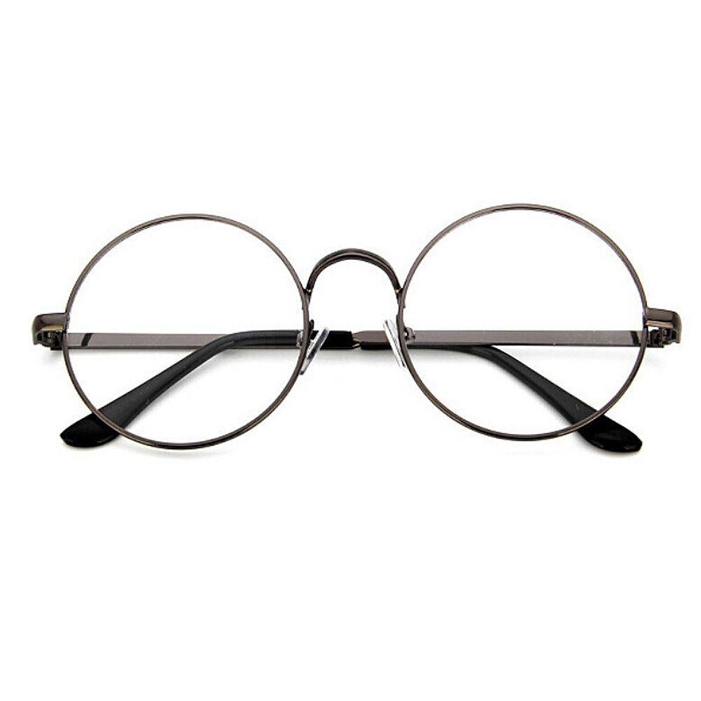 TININNA Retro Stile college rotondi Occhiali Metallo Unisex cornice rotonda Occhiali Con 702 Specchio normale / specchio decorativo