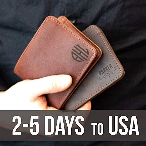 Leather Wallets For Men - Bifold Slim Front Pocket Wallet...