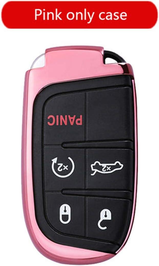 Kfz Schlüssel Cover Fall Für Dodge Journey Charger Dart Challenger Schlüsselanhänger Ring Auto Zubehör Pink Only Case Bürobedarf Schreibwaren