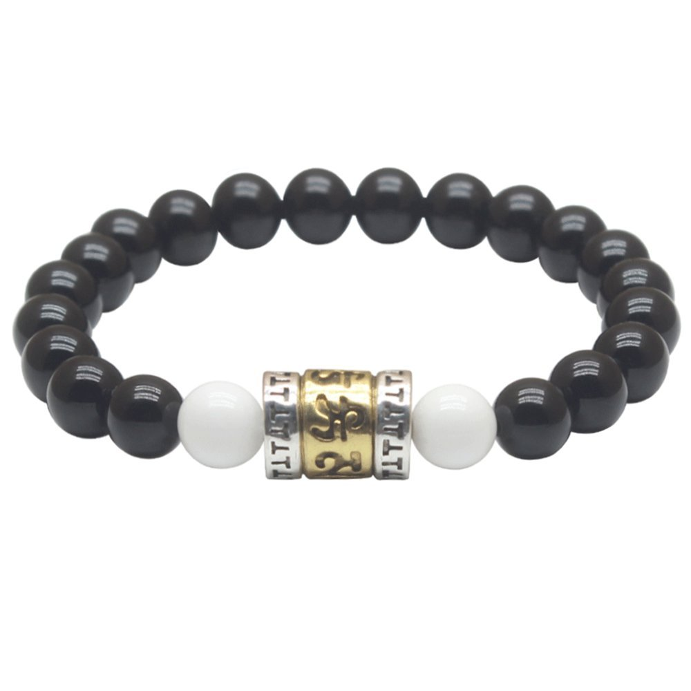 Weelovee Prayer Mala Buddha Beads Bracelet, Positive Energy Chakra Meditation Aid Healing Jewelry