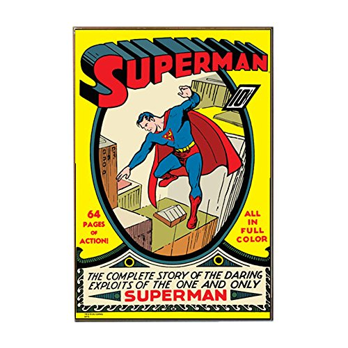 Silver Buffalo SP0636 DC Comics Superman Complete Story & Exploits Wood Wall Art Plaque, 13 x 19 inches