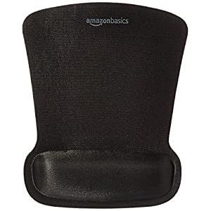 AmazonBasics Gel Computer Mouse Pad with Wrist Support Rest