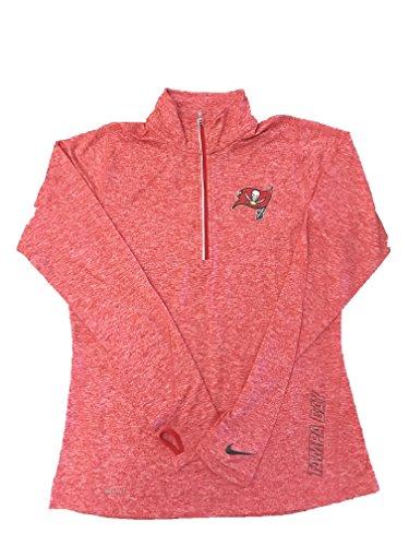 Nike Women's Dri-FIT Element Half Zip Light Crimson/Reflective Silver T-Shirt Tampa Bay Medium