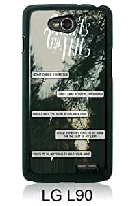 Band pierce the veil Quotes (3) Black LG L90 Screen Cover Case Genuine and Newest Design