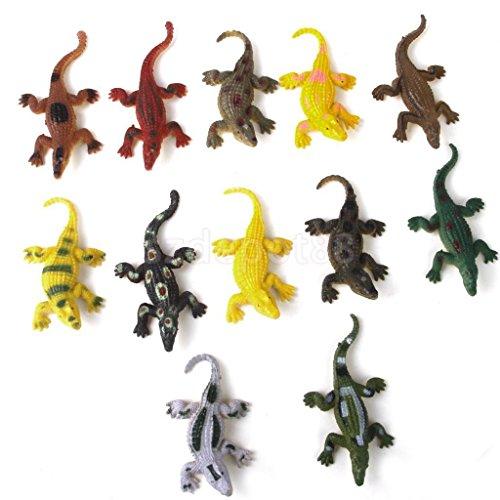 12pcs 3'' Plastic Crocodiles Animals Model Kids Child Party Bag Fillers Toy by uptogethertek