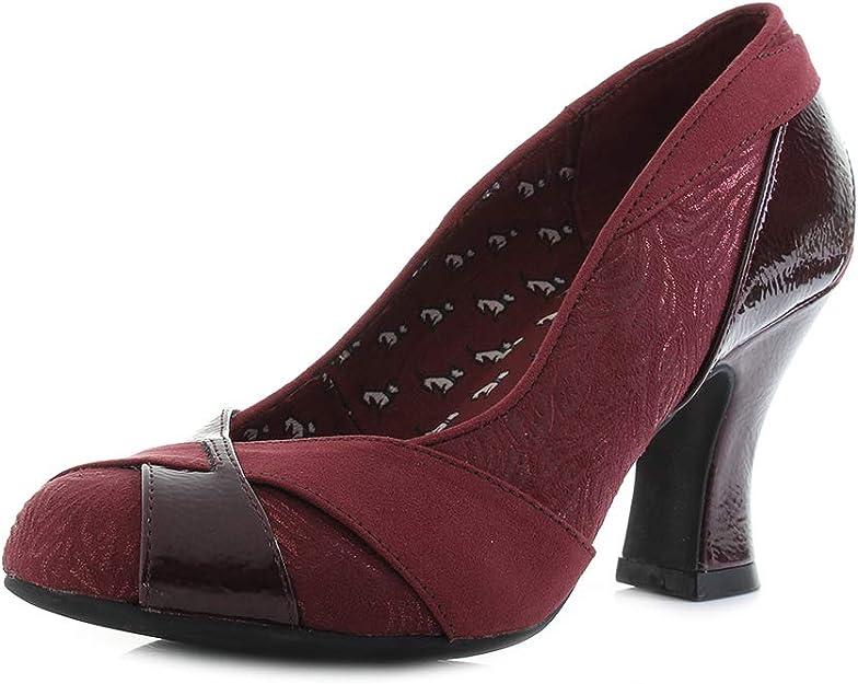 Ruby Shoo Lulu High Heel Panelled Court Shoes UK 2-9 Indulgence Collection