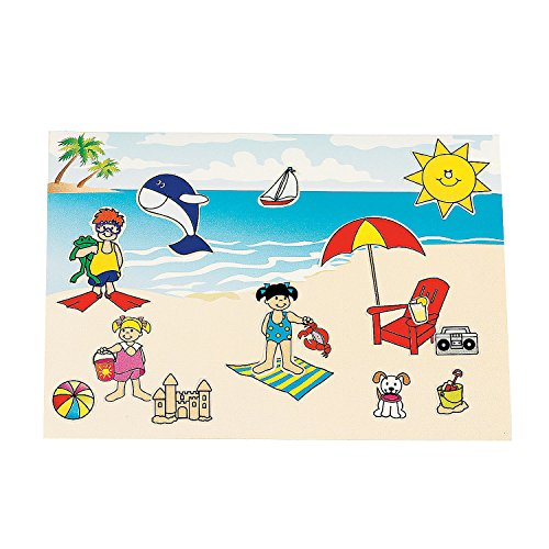 (Fun Express 12 Make A Beach Sticker Sheets)