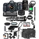 Canon EOS 6D Mark II With 24-105mm f/4 L IS II USM + 75-300mm III + 50mm 1.8 STM + 500mm Telephoto Lenses + 128GB Memory + Pro Battery Bundle + TTL SpeedLight + Pro Filters,(26pc Bunle)