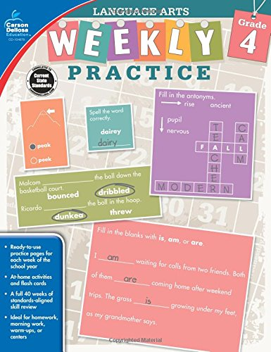 Language Arts, Grade 4 (Weekly Practice) by Carson-Dellosa