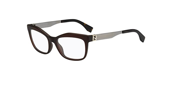 bdab129b8e7 Amazon.com  Fendi The FENDISTA FF 0050 Dark Brown Ruthenium 53 18 ...
