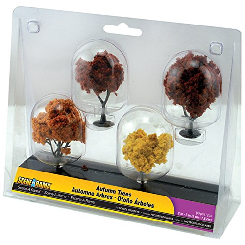 - SceneARama Autumn Trees, 2-Inch To 3-Inch, 4/Pack