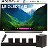 LG OLED55C8PUA 55-Class C8 OLED 4K HDR AI Smart TV (2018 Model) with Sharper Image 5.1 Home Theater System w/Subwoofer, Sound Bar & Satellite Speakers