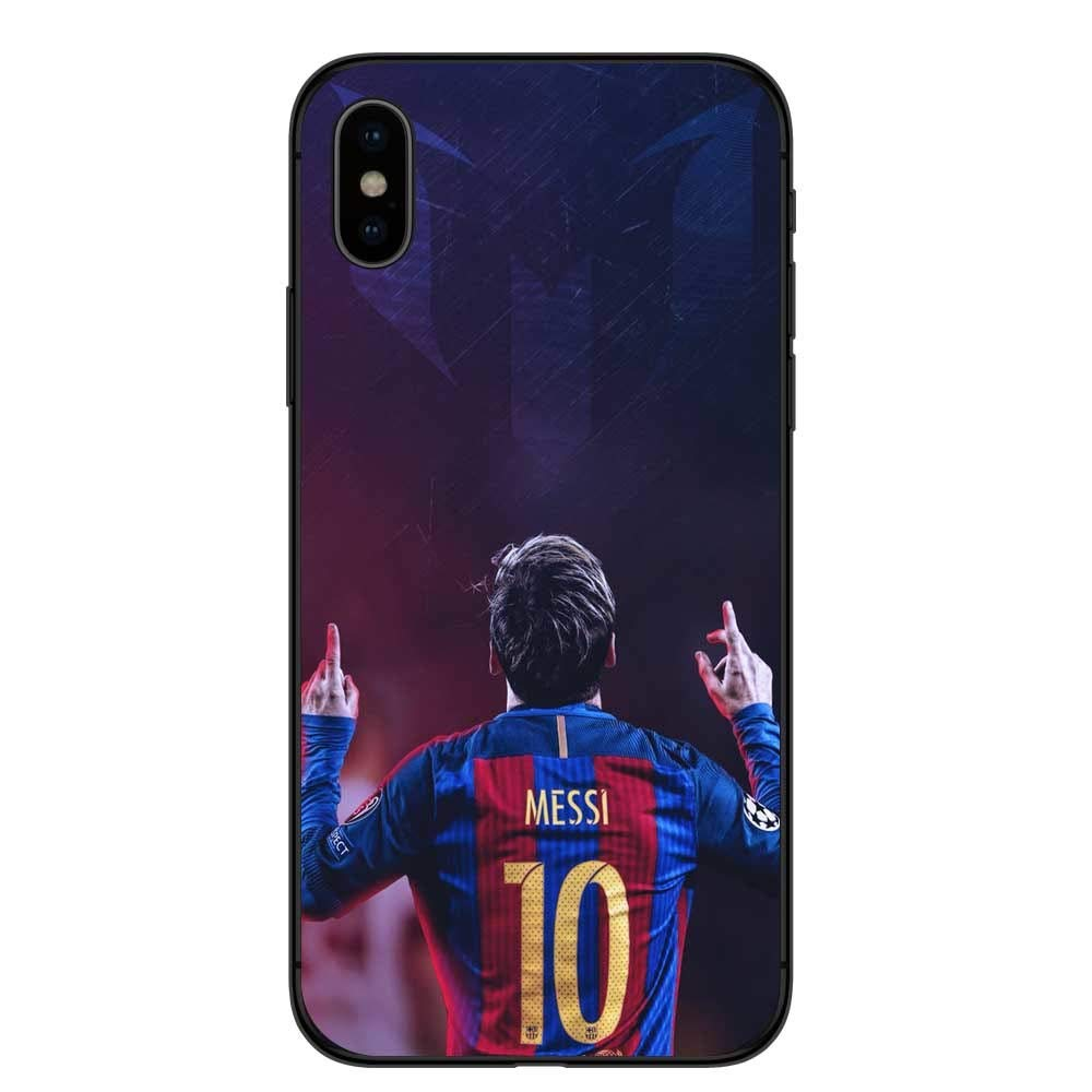 347165dab Barcelona Messi Soft Silicone Phone Case for iPhone X XS Football Star King  Cover Protective Shell. (7)  Cell Phones   Accessories