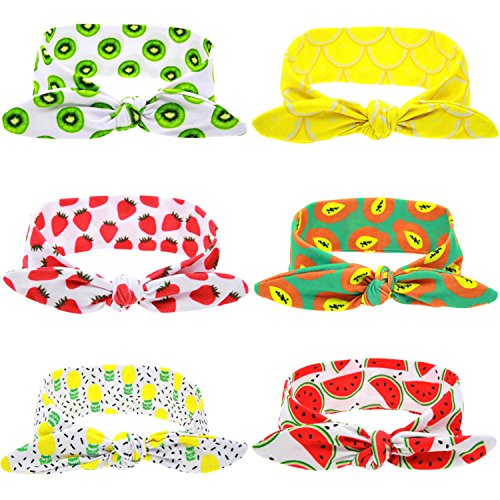 [Cute Fruit Print Headbands Adjustable Baby Girl Hair Hoops Hairbands For Newborn Toddler and] (Watermelon Toddler Costume)