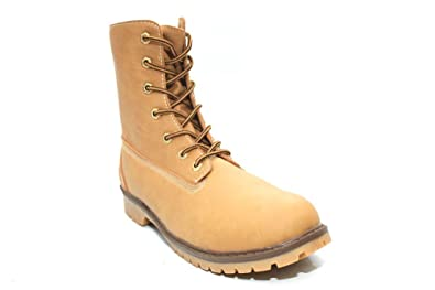 b280ecfea7be M0817Hn Mens Fleece Lined Lace Up Military Worker Winter Boots Size Uk 9