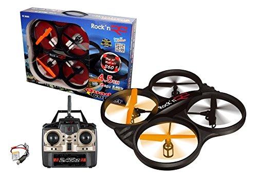 Rockn' RC 8660 Remote Control Stunt Master Quad Copter, Black