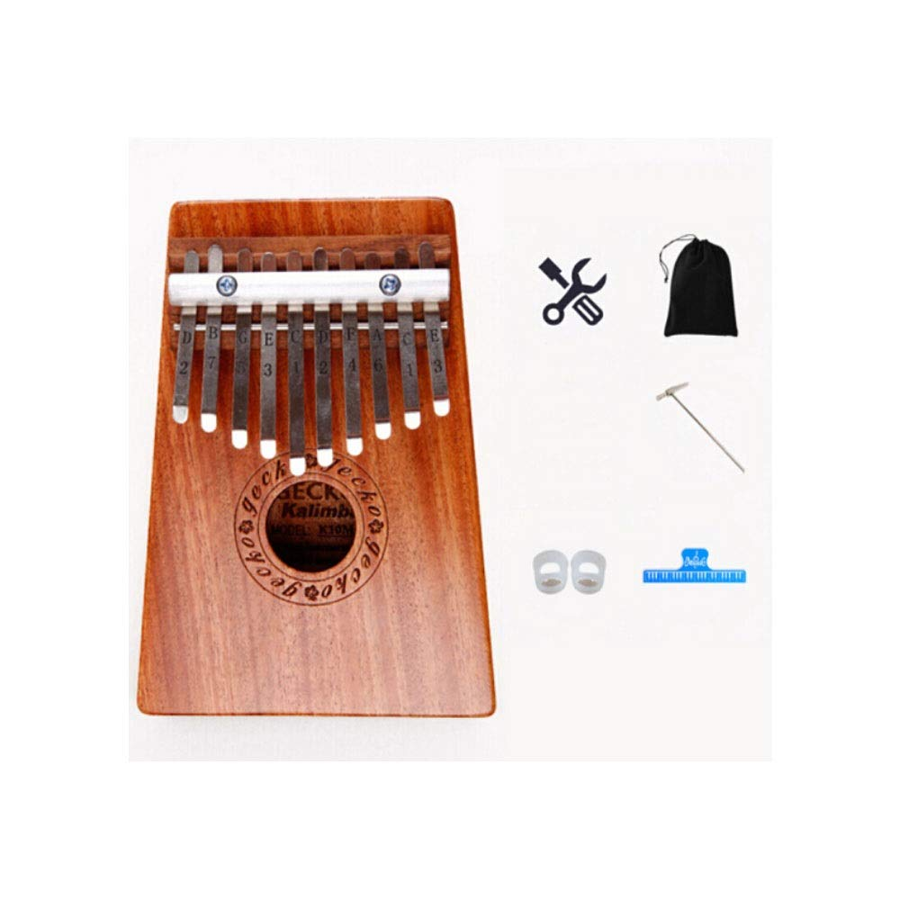 Youshangshipin Kalimba, Portable Kalimba Multi-finger Finger Piano, Retro Fashion New Design Style (10-tone Style 1, There Are Many Styles To Choose From) (Edition : 10 tone style 1)