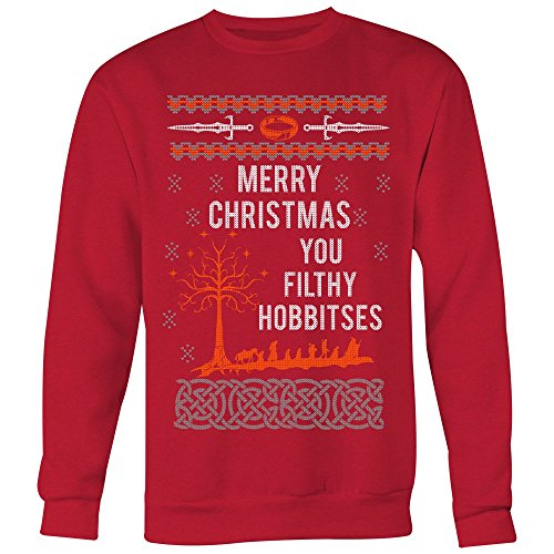 Jumper Ring - Merry Christmas You Filthy Hobbitses Lord The Rings Ugly Christmas Sweater Unisex Sweatshirt