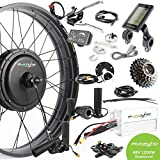 "7. EBIKELING 48V 1200W 26"" Fat Direct Drive Rear Waterproof Electric Bicycle Conversion Kit (Rear/LCD/Twist)"
