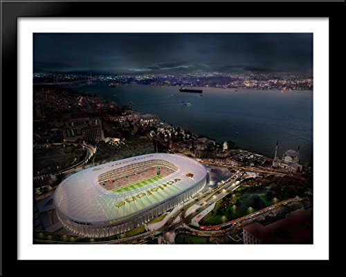 vodafone-arena-36x28-large-black-wood-framed-print-art