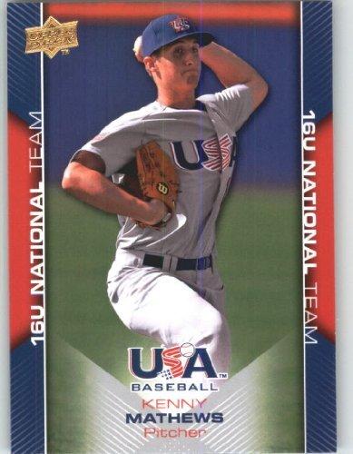 Upper Deck Usa Rookie Baseball - 2009 Upper Deck USA Baseball Rookie Card #USA-56 Team USA