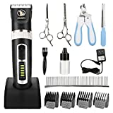 Best Professional Pet Clippers - Ceenwes Dog Clippers Heavy Duty Low Noise Rechargeable Review