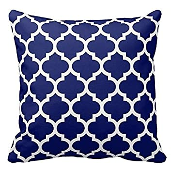 Navy Blue And White Decorative Cushion Covers Throw Pillow Case Gorgeous Navy And White Decorative Pillows