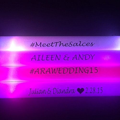 Personalized 16'' Custom Multicolor LED Foam Sticks, Customize the LED Glow Sticks with your own text or logo for a memorable celebration, 100 Pcs, Six Mode Lighting by Promotional Party Sticks (Image #3)