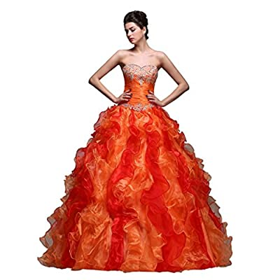 Efashion Women's Party Prom Ball Gown Pageant Quinceanera Homecoming Dress L2054