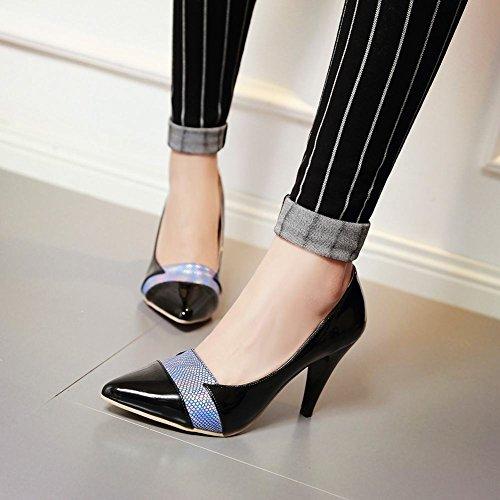 Voet Dames Klassieke Hoge Hak Stiletto-jurk Pumps Zwart