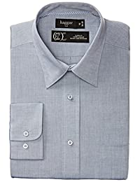 Haggar Men's End on End Dress Shirt Long Sleeve Classic Fit