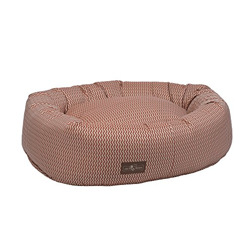 Jax and Bones Mod Rust Premium Cotton Donut Dog Bed, X-Large