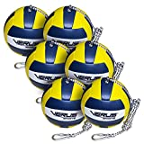 Verus Sports TO600-BALL-6A 6 Replacement Tetherballs Ball with Heavy Duty Rope & Clip