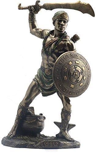 9 Inch Statue Orisha Ogun Yoruba Santeria Estatua Lucumi African God Figure