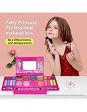 RuleaxAsi Girls Makeup Kit for Kids Washable Fashion Makeup Set Girls Play Cosmetics Set