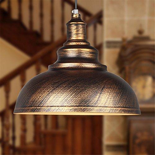 Vintage Ceiling Light Pendant Lamp Industrial Retro Loft Iron Lighting Home Bar Loft Decor (Bronze outer)