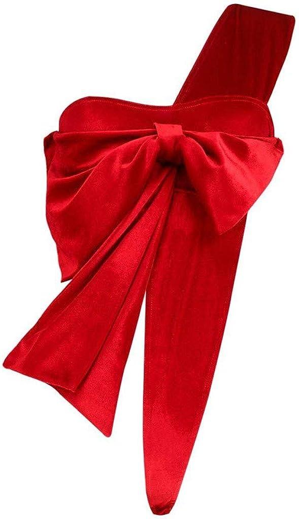 Goldatila Womens Sleepwear Christmas Fashion Bow Racy Underwear Spice Suit Temptation Underwear Bodydoll Sleepwear Set Knot Gift Valentine Love Gift