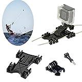 Kitesurfing Kite Line Mount,Williamcr Kiteboarding Line Holder Adapter Adaptive for GoPro Camera Accessories Hero5 Black Hero HD Hero 4 Hero 3+