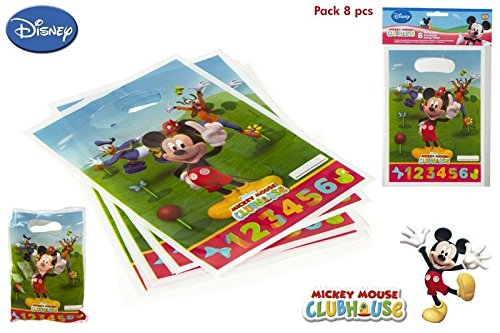 DISOK - Pack 8 Bolsitas Party Mickey - Bolsitas, Bolsas para ...