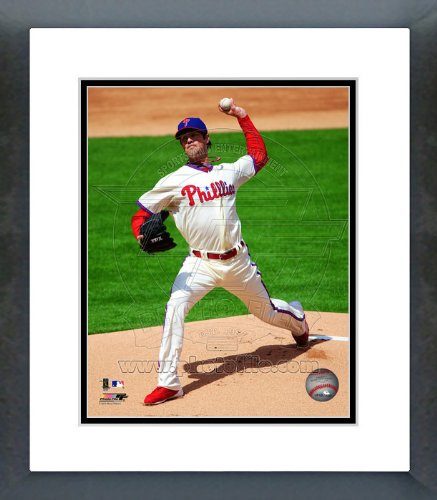 Cole Hamels Philadelphia Phillies 2012 Pitching Framed Picture 8x10