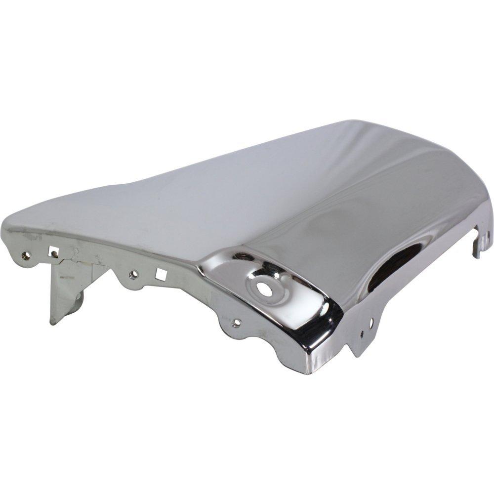 Bumper End Compatible with Toyota 4Runner 96-02 Rear Chrome Steel Base//SR5 Models Left Side