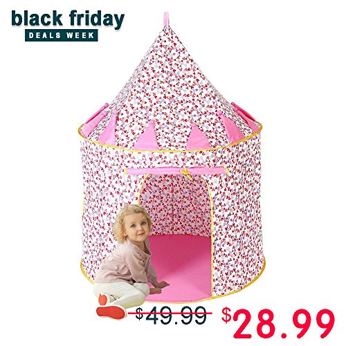 Princess Castle Play Tent, Everfunny Cotton Material Outdoor Foldable Pop-up...
