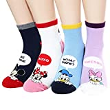 Socksense Disney Pixar Character Series Women's Original Crew Socks (Micky Pocket_4pairs)